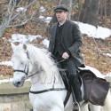 Colin Farrell Shoots Scenes On A Horse