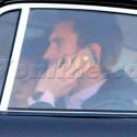 Adam Levine Chats On Phone While Driving