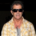 Mel Gibson Lands At L.A.X.