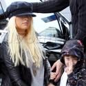 Christina Aguilera Takes Son Max To Karate