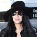 Cher Wears All Black At LAX