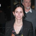 Courteney Cox Arrives At Bootsy Bellows With David Fincher