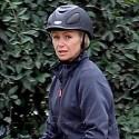 Portia de Rossi Rides Her Horse At L.A. Equestrian Center