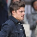 Zac Efron On The Set Of <em>Are We Officially Dating</em>