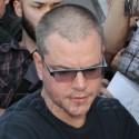 Matt Damon Greets Fans At The Airport