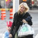 Naomi Watts And Liev Schreiber Head Home With The Kids