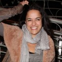 Michelle Rodriguez Is In A Good Mood After Dinner
