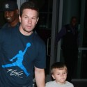 Mark Wahlberg And His Son Go To See The Lakers