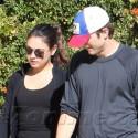 Ashton Kutcher And Mila Kunis Take A Hike In Hollywood