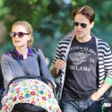 Anna Paquin And Stephen Moyer Take Their Twins To Santa Monica