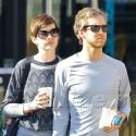 Anne Hathaway And Adam Shulman Go For A Walk