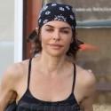 Lisa Rinna Sweats It Out At Yoga