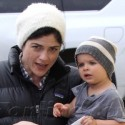 Selma Blair And Her Son Go To The Doctor's Office