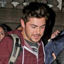 Zac Efron Leaves The Set Of <em>Are We Officially Dating?</em>