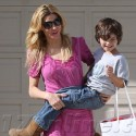 Brandi Glanville Picks Up Her Son From A Friend's House
