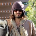 Russell Brand Bundles Up For Morning Yoga Class