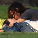 Clea Duvall Smooches Her Lady Love In The Park
