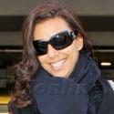 Eva Longoria Lands At Los Angeles International Airport