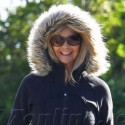 Goldie Hawn Bundles Up For A Stroll Through Brentwood