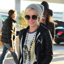 Ashlee Simpson Departs Out Of JFK Airport