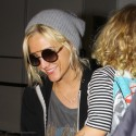 Ashlee Simpson And Son Bronx At LAX Airport