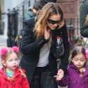 Sarah Jessica Parker Holds Hands With Her Twin Daughters