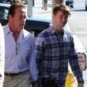 Arnold Schwarzenegger Grabs Lunch With Son Patrick