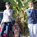 Anne Hathaway And Hubby Take The Dog For A Walk