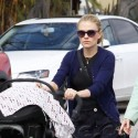 Anna Paquin Goes For A Stroll With The Twins
