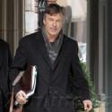 Alec Baldwin Leaves His NYC Apartment