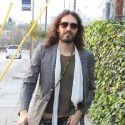 Russell Brand Heads To A Meeting