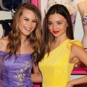 Miranda Kerr And Behati Prinsloo Promote Victoria's Secret's Fabulous Collection