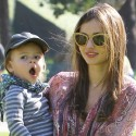 Miranda Kerr And Her Son Play In The Park