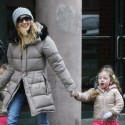 Sarah Jessica Parker Takes Her Kids To School