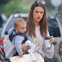 Alessandra Ambrosio Takes Her Kids Out In Brentwood