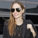 Angelina Jolie Returns To LAX From Africa