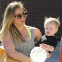 Hilary Duff Hangs On Tight To Little Luca