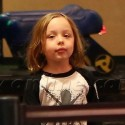 Knox And Pax Jolie-Pitt See A Movie And Play Arcade Games
