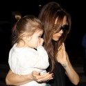 Victoria Beckham And Her Kids Arrive At LAX