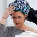 Amy Adams Wears A Hair Cap On Set