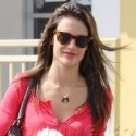 Alessandra Ambrosio Shows Off Her Skinny Stems