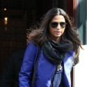 Camila Alves And Her Children Leave Their NYC Hotel