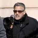 George Clooney And Matt Damon Film In Berlin