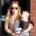 Hilary Duff Spends The Day With Son Luca