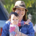 Alyson Hannigan Takes Her Daughters For A Walk