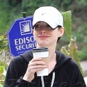 Anne Hathaway Goes On An Early Morning Coffee Run
