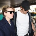 Kirsten Dunst And Garrett Hedlund At LAX