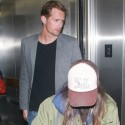 Alexander Skarsgard And Ellen Page Land At LAX