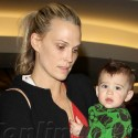 Molly Sims Lands At LAX With Her Husband And Son