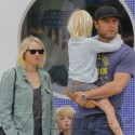 Naomi Watts And Liev Schreiber Spend The Day With Their Sons